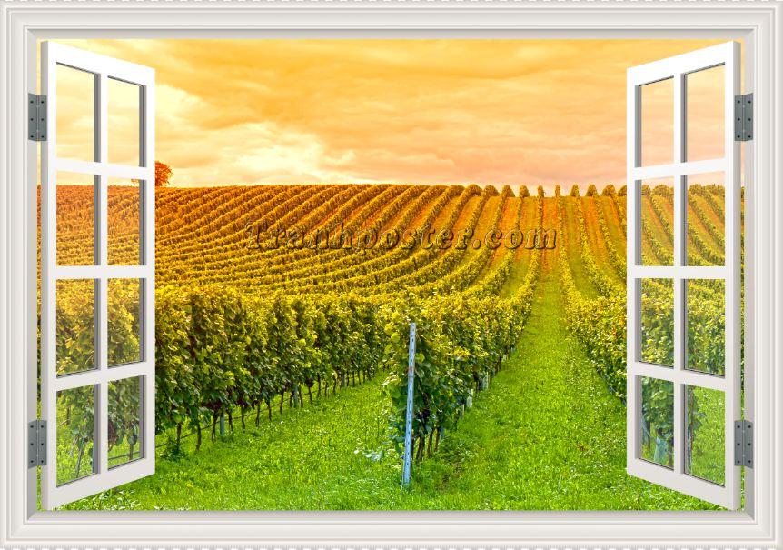 Tranh cửa sổ 3D - CS91