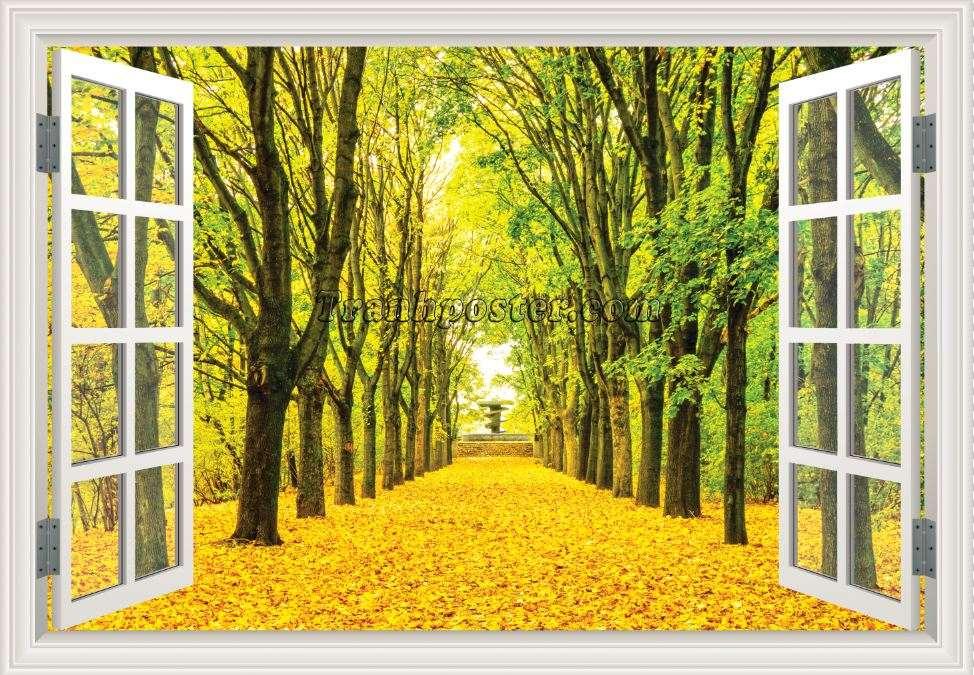 Tranh cửa sổ 3D - CS94