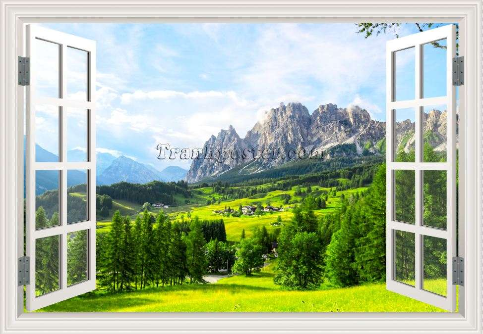 Tranh cửa sổ 3D - CS95
