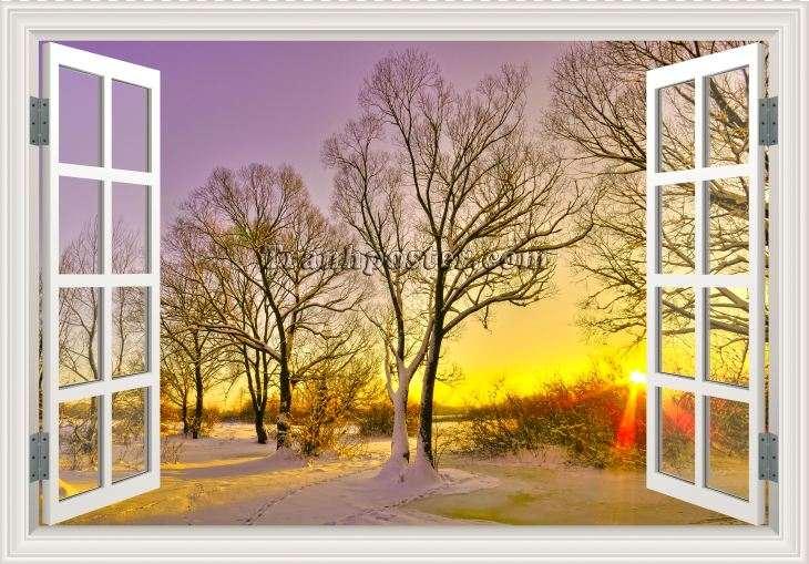 Tranh cửa sổ 3D - CS96