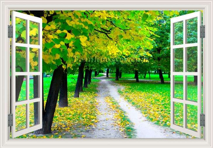 Tranh cửa sổ 3D - CS97