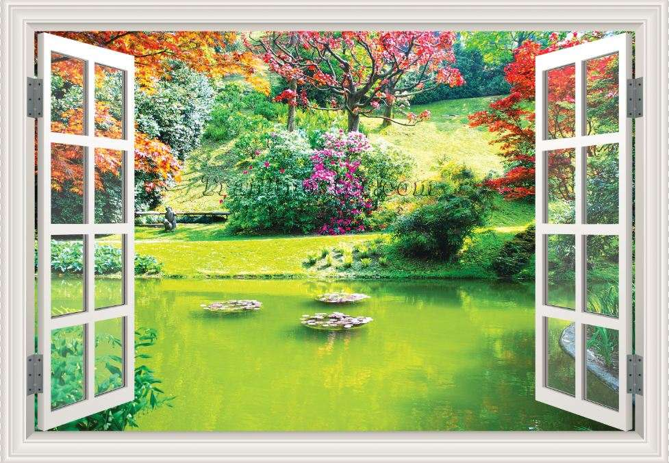 Tranh cửa sổ 3D - CS98