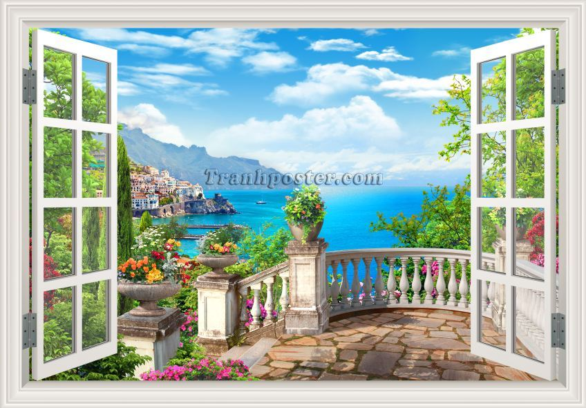 Tranh cửa sổ 3D - CS99