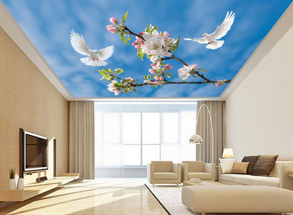 Tranh dán trần nhà 3d - MS133