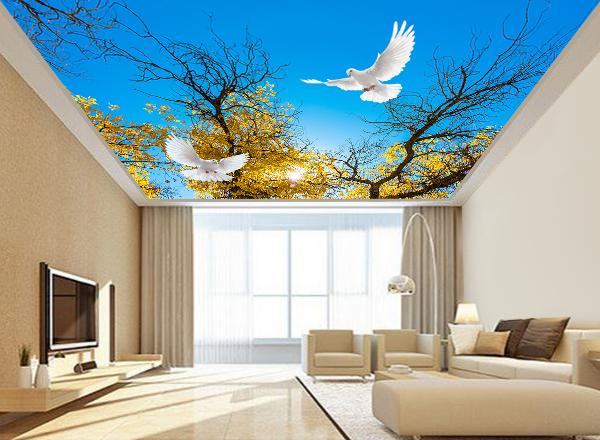 Tranh dán trần nhà 3d - MS139