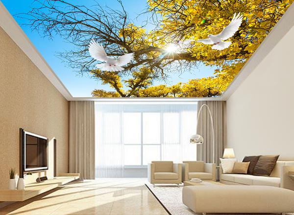 Tranh dán trần nhà 3d - MS140