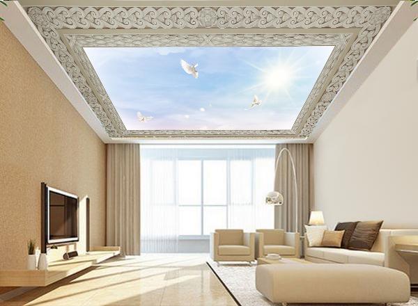 Tranh dán trần nhà 3d - MS134