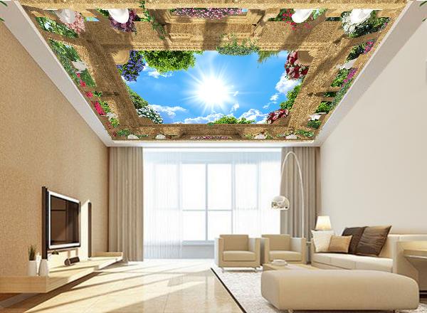 Tranh dán trần nhà 3d - MS136
