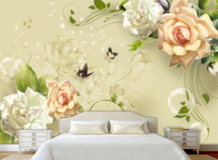 Tranh dán tường 3D phòng ngủ 01