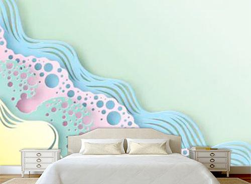 Tranh dán tường 3D phòng ngủ - TPN58