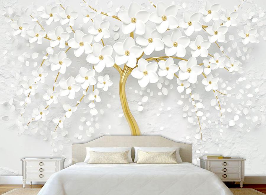 Tranh dán tường 3D phòng ngủ 02