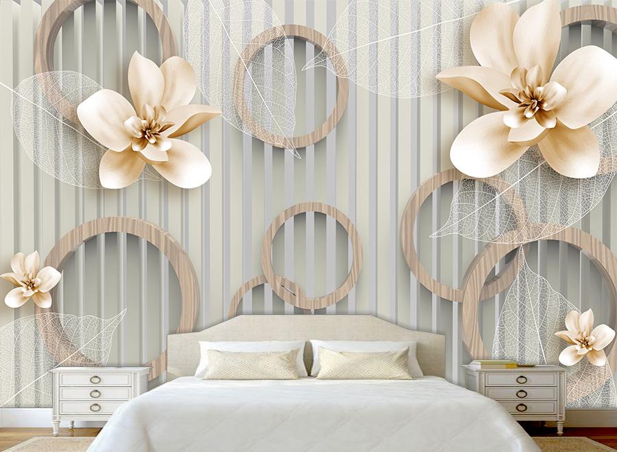 Tranh dán tường 3D phòng ngủ 12