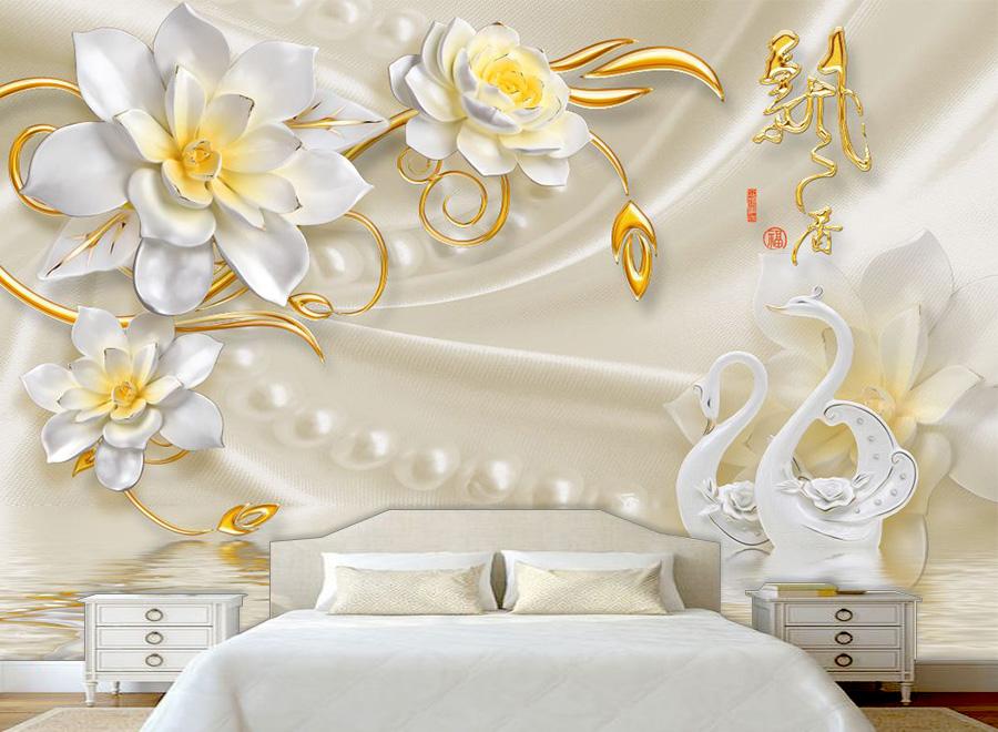 Tranh dán tường 3D phòng ngủ 04