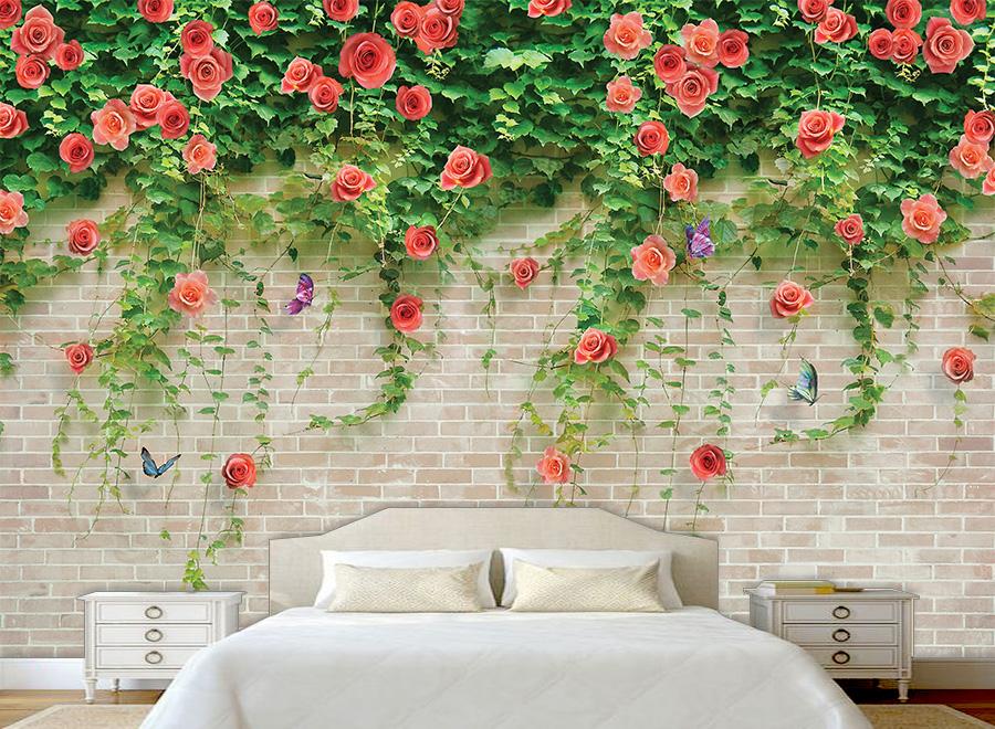 Tranh dán tường 3D phòng ngủ 05