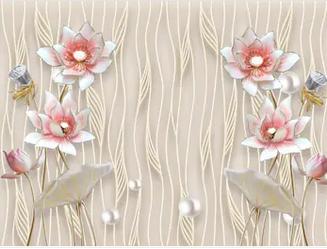 Tranh hoa sen 3d - TGN170