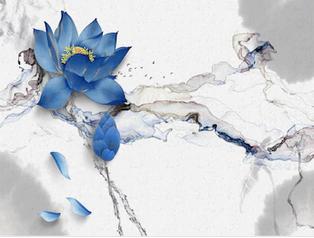 Tranh hoa sen 3d - TGN163
