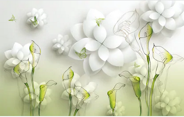 Tranh hoa sen 3d - TGN168