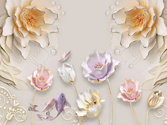 Tranh hoa sen 3d - TGN169