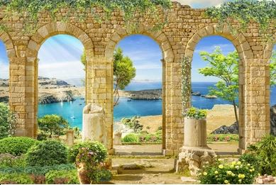 Tranh phong cảnh Digital collage -1826