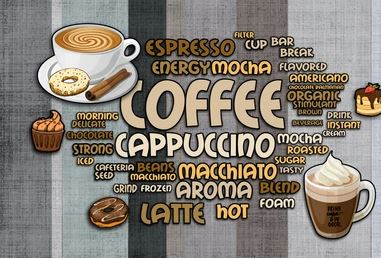 Tranh dán tường quán cà phê - 12