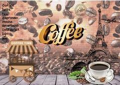 Tranh dán tường quán cafe - 02