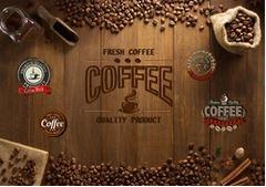 Tranh dán tường quán cà phê - 04