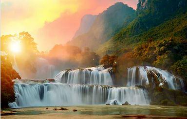 Tranh thác nước đẹp 19