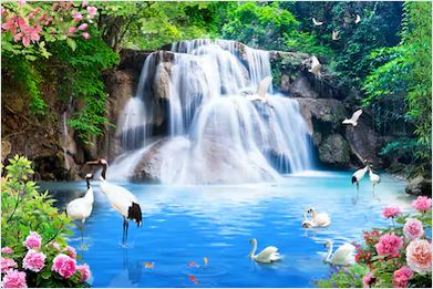 Tranh thác nước đẹp 02