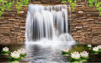 Tranh thác nước đẹp 03