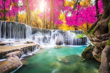 Tranh thác nước đẹp 04