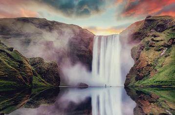 Tranh thác nước đẹp 07