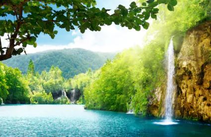 Tranh thác nước đẹp 73