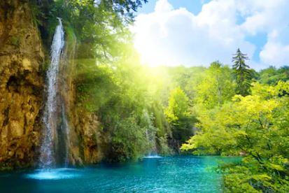 Tranh thác nước đẹp 75