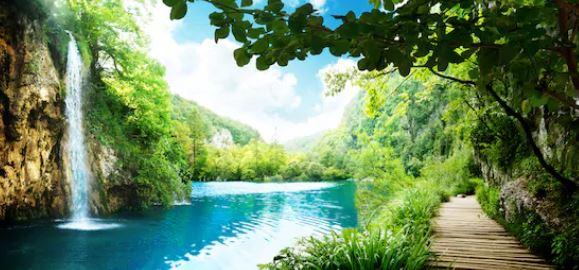 Tranh thác nước đẹp 77
