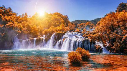 Tranh thác nước đẹp 88