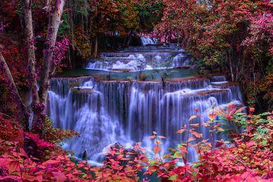 Tranh thác nước đẹp 90