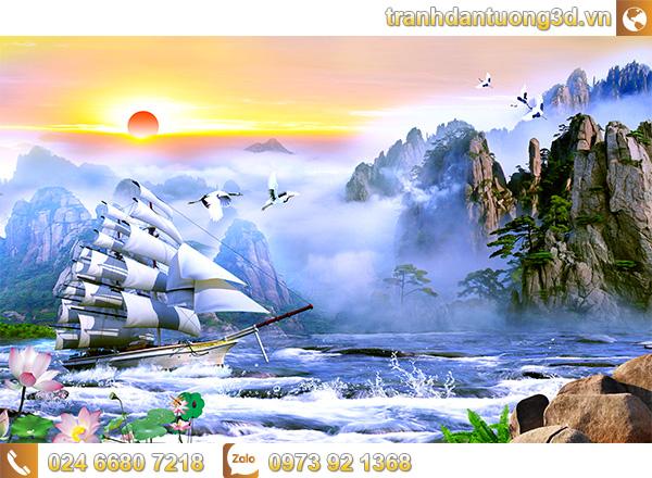 Tranh Thuận buồm xuôi gió - TTB12