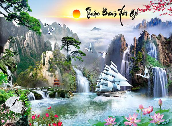 Tranh Thuận buồm xuôi gió - TTB13
