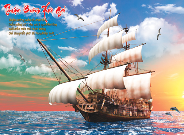 Tranh Thuận buồm xuôi gió - TTB01