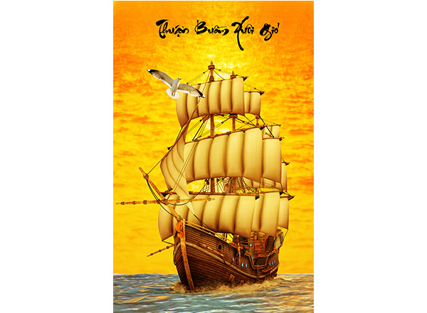 Tranh Thuận buồm xuôi gió - TTB07