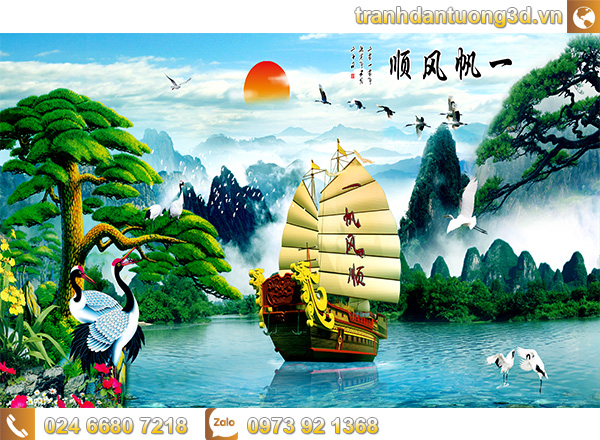 Tranh Thuận buồm xuôi gió - TTB08