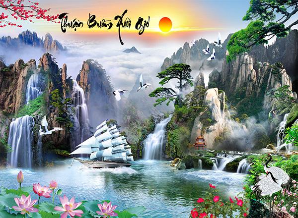 Tranh Thuận buồm xuôi gió - TTB09
