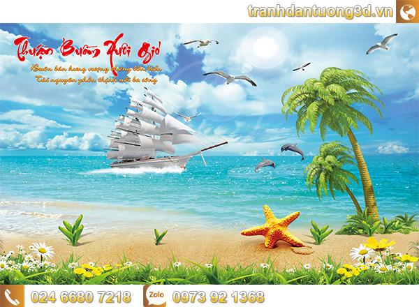 Tranh Thuận buồm xuôi gió - TTB03