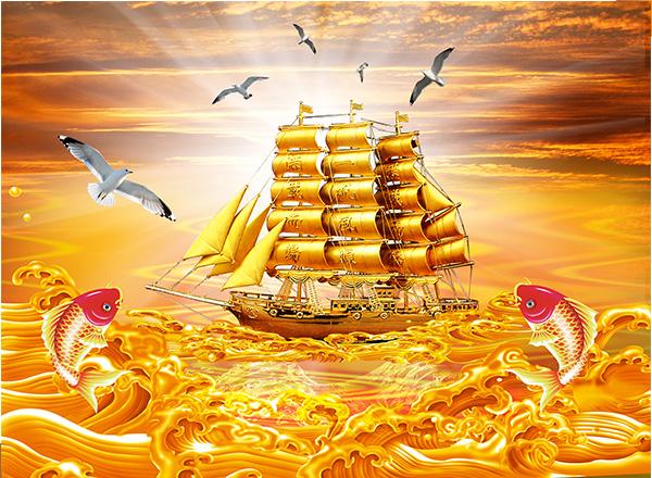 Tranh Thuận buồm xuôi gió - TTB11
