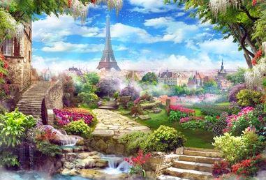 Tranh vườn hoa - TVH68