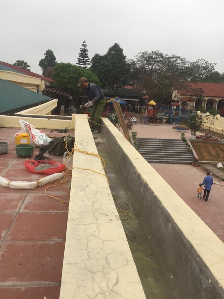 ATH Group Thi Chông Chống Thấm Mái Trường Mẫu Giáo tại Phú Thọ