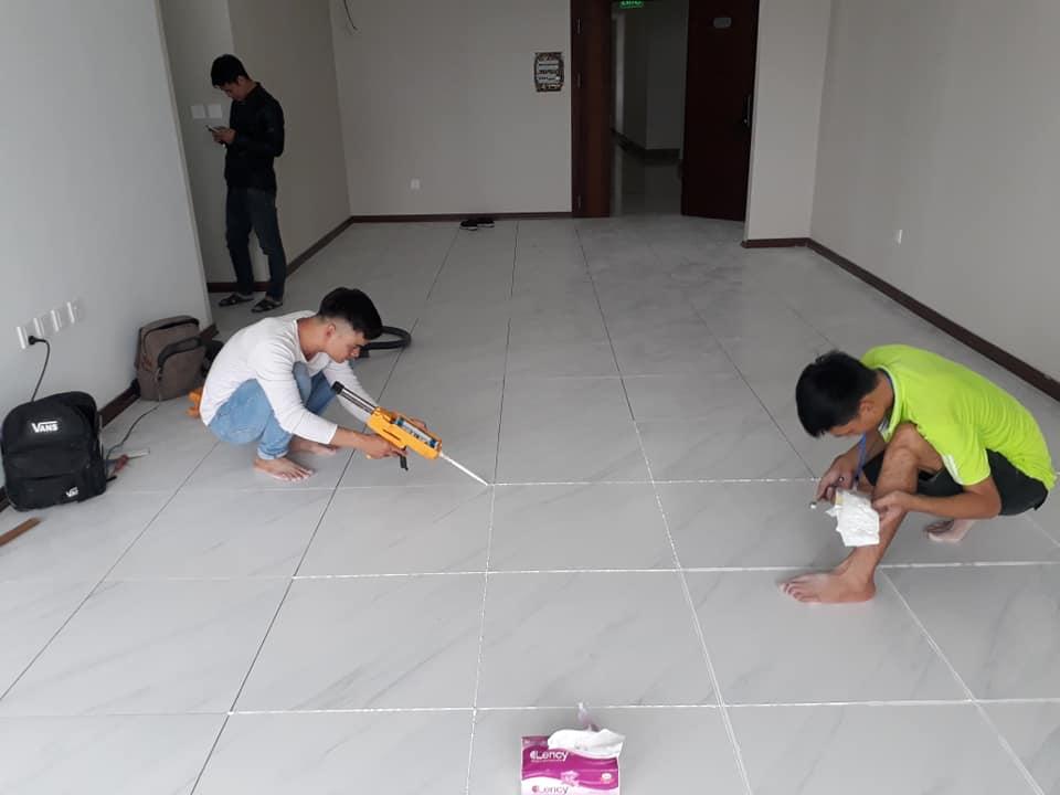 ATH Group Thi Công Keo Trang Trí - Chít Mạch Saveto Tại Chung Cư HD Mon Mỹ Đình