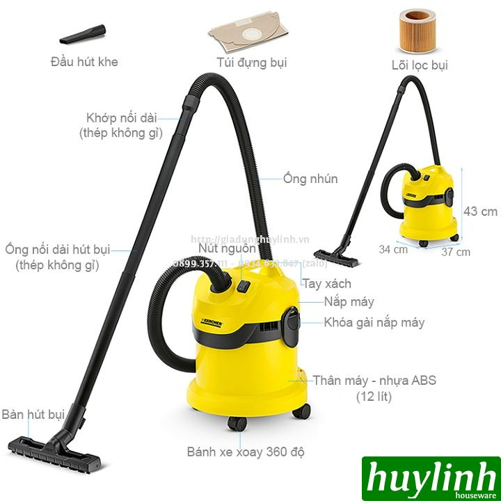 may hut bui karcher wd2