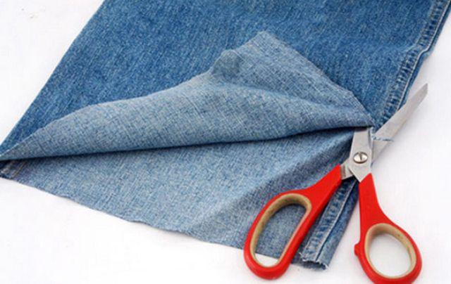 Đo miếng vải sao cho vừa vặn với chiếc quần