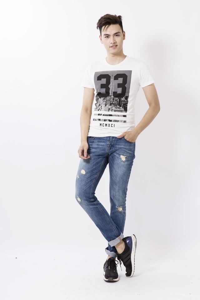 Xắn gấu quần jeans nam đẹp 1